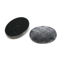 2 cabochons en résine glitter anthracite - 18 x 13 mm - CCW48