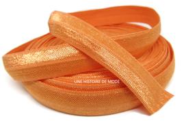 Ruban élastique orange uni - 15 mm ( au mètre )