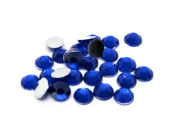 100 strass 4 mm en acrylique bleu foncé  - CCW42
