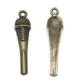 2 breloques micro en métal bronze - 34 x 8 mm - RZZ135
