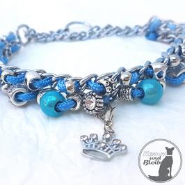 Halsband Kette G35 blau