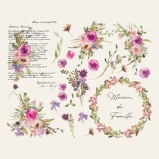 "Amatxi Transfer ""Watercolor Flowers"""