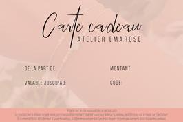 La carte cadeau Atelier Emarose