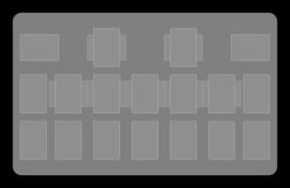 Kartenzonen für YuGiOh! - LINK einfarbig weiß - VOLLE EXTRA ZONEN