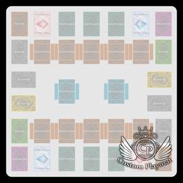 Kartenzonen für YuGiOh! - Link Farbig - 2 Spieler