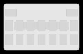 Kartenzonen für YuGiOh! - KLASSISCH einfarbig Schwarz