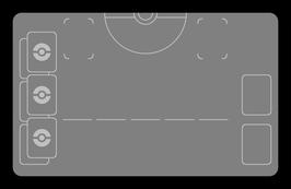 Kartenzonen für POKÉMON - Weiß