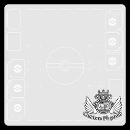 Kartenzonen für POKÉMON - 2 Spieler - weiß