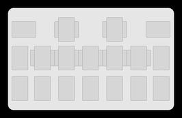 Kartenzonen für YuGiOh! - LINK einfarbig Schwarz - VOLLE EXTRA ZONEN