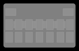 Kartenzonen für YuGiOh! - KLASSISCH einfarbig Weiß