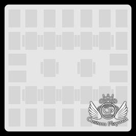 Kartenzonen für YuGiOh! - Einfarbig - 2 Spieler