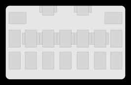 Kartenzonen für YuGiOh! - LINK einfarbig Schwarz - HALBE EXTRA ZONEN