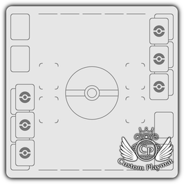 Kartenzonen für POKÉMON - 2 Spieler - schwarz