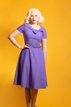 Dapper Margareta Dress Purple