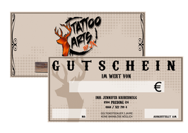 Gutschein Tattoo Arts