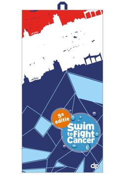 Microfiber towel Swim to fight cancer 5e editie