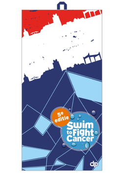 Microfiber towel Swim to fight cancer 5e editie