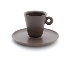 La tazzina da caffè fatta di caffè