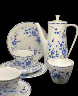 Servicio para café o te - 2 personas porcelana Blau Seltmann