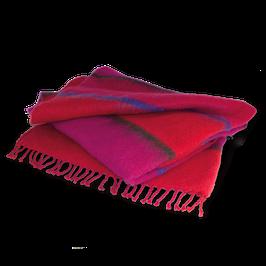 "Mohairwolldecke ""pink-rot"""