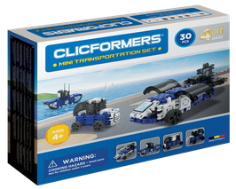 CLICFORMERS Mini Transportation Set 30 Teile // 804002