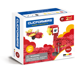 CLICFORMERS Craft Set Red 25 Teile // 807001
