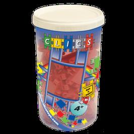 CLICS Köcher mit metallic roten Clics // CK004