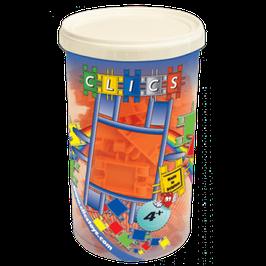 CLICS Köcher mit orangen Clics // CK019