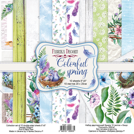"Fabrika Decoru 8x8 Paper Set ""Colorful Spring"""