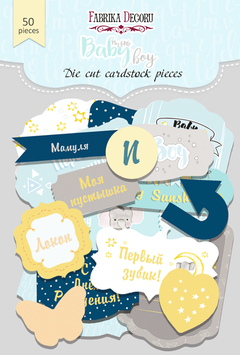 "Fabrika Decoru Die Cuts ""My Little Baby Boy"""