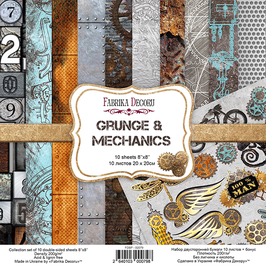 "Fabrika Decoru 8x8 Paper Set ""Grunge & Mechanics"""