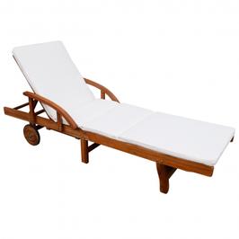 Chaise longue en bois d'acacia