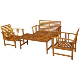 Ensemble meuble de jardin en bois d'acacia