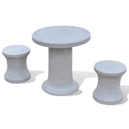 Table et 2 Tabourets en béton