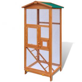 Grande cage oiseau en bois 2 portes