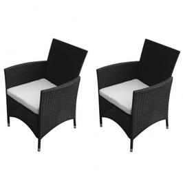 Ensemble chaises de jardin en poly rotin
