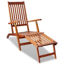 Chaise longue d'extérieur en acacia