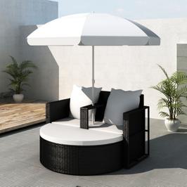Canapé 2 places rond avec parasol