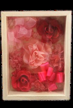 木箱アレンジ ピンク