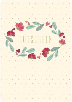 Grusskarte A6 - Gutschein