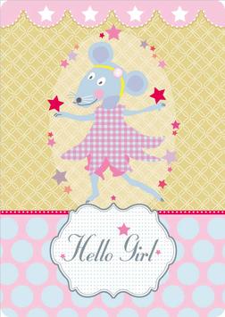 Grusskarte A6 - Hello Girl