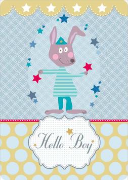 Grusskarte A6 - Hello Boy