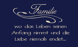 """Spruch """"Familie"""""""