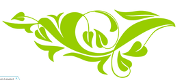 Schnörkel Blätter