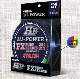 MONOFILO FALCON HP HI-POWER FX SURF LEADER CON DOPPIO SHOCK LEADER