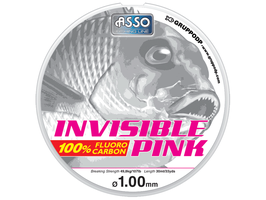 FLUOROCARBON ASSO INVISIBILE COLOR PINK BOBINA DA 30 MT