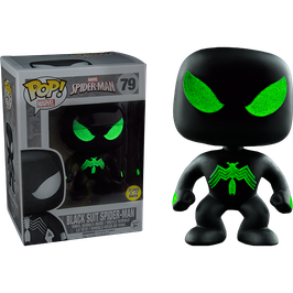 FIGURA POP! SPIDER-MAN (BLACK SUIT SPIDER-MAN GITD)
