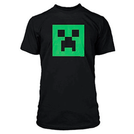 CAMISETA MINECRAFT (CREEPER GLOW IN THE DARK) M/C