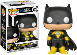 FIGURA POP! YELLOW LANTERN BATMAN GITD nº220