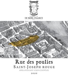 Saint Joseph rouge, 'Rue des Poulies' 2020, Syrah